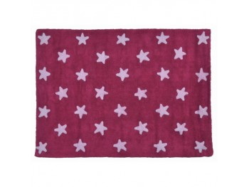 Fuchsia Pink Stars Rug REF. LCFSW