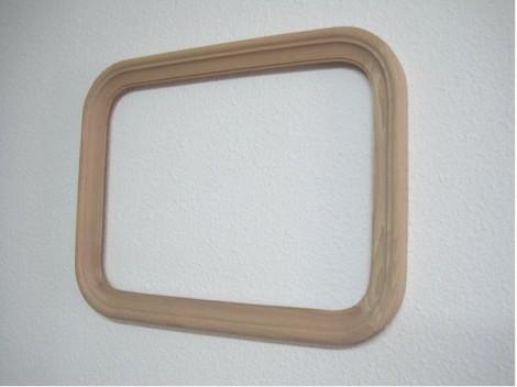 Rectangular mirror frame