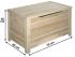 Baúl de madera de 70 cm. Ref.2303