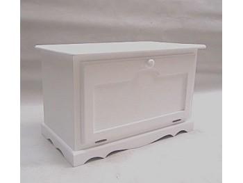 Baúl lacado blanco con tapa frontal REF.2301B