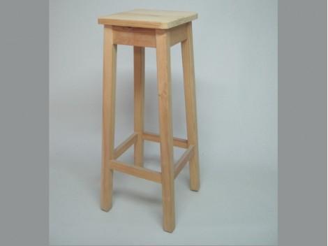 Taburete de madera alto 75 cm. Ref.1312