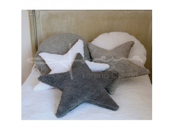 Cushion Star Grey
