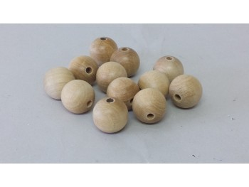 Bolas madera Guatambu 18 mm. con taladro / 100 unds.