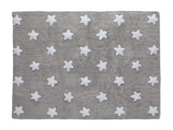 Alfombra Gris Estrellas Blancas REF.LCGSW