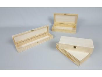 Cajas de pino con Bisagra y Broche