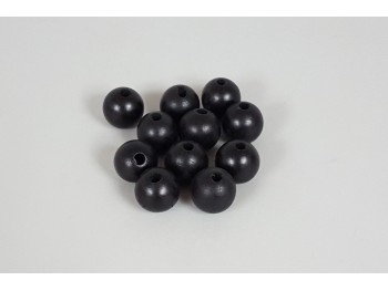 Black Ball Ø25 mm. c / drill p. 6 mm. / 100 pcs.