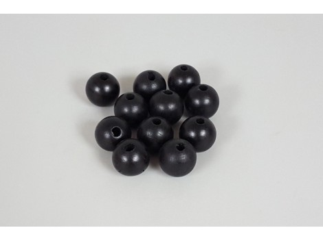 Bola Negra Ø25 mm. c/taladro p. 6mm. / 100 uds.