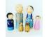 Muñecos familia de madera Ref.PegDolls