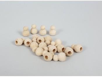 Bolas de madera con forma Ref.1411/20uds