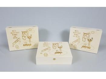 Caja natalicio personalizada Ref.P53C54