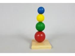 Juego encaje 4 bolas de colores Ref.CCJD43