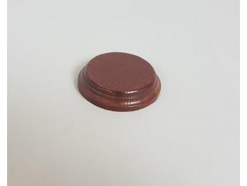 Peana caoba redonda Ø 9 cm. Ref.2640