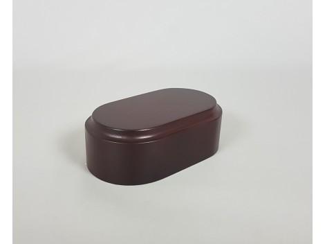 Peana taco caoba 12x7x4 cm. Ref.2641