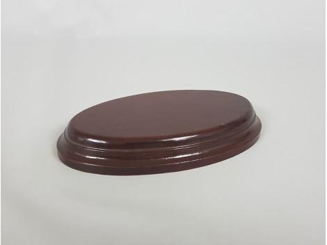 Peana caoba ovalada 14x8,5x1,9cm. Ref.2642