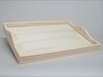 Cajas de madera y Bandeja con cristal REF.1901A