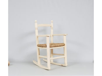Rocking chair with bulrush seat. REF. 1273