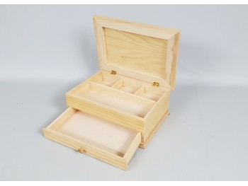 Box of 37x26x15 cm. with divisions and drawer Ref.1812