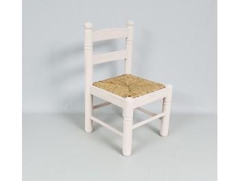 Silla infantil Blanca Sara con asiento de enea Ref.AR13192