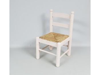 Silla infantil blanca con asiento de enea Ref.AR13192