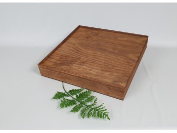 Caja envejecida 37x37x5 cm. pino Ref.PC8PB