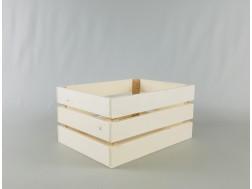 Caja cesta fruta natural 30x22x15 cm. Ref.PCR2