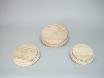 Round base pine w/ profile. REF.2540