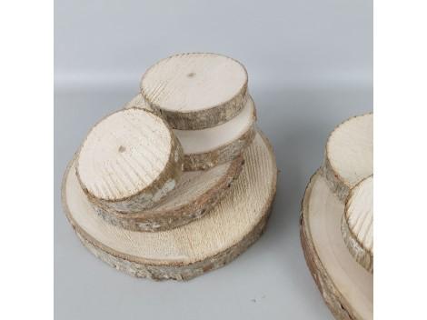 Pack 5 rodajas de madera varios tamaños Ref.G28