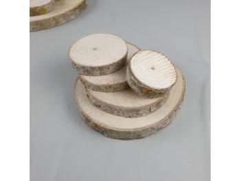 Pack 5 rodajas de madera Ref.G28