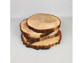 Dark wood bark outlet slices Ref.AR1626OUT