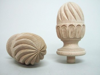 Attempt carved on pineapple form. REF.355P