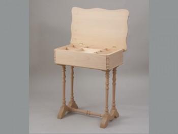 Costurero patas y tapa ondas c/compartimentos Ref.1826