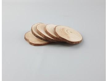 Rodajas de madera 5 - 6 cm. 5 uds. Ref.R780