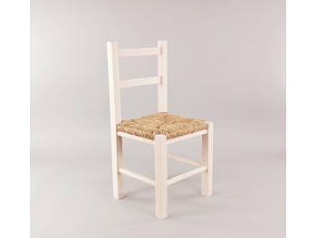 Silla infantil Blanca con asiento de enea Ref.AR0284390
