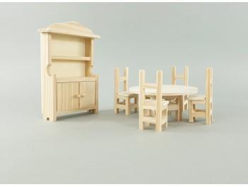 Mobiliario miniatura de madera para casa de muñecas Ref.AR07571