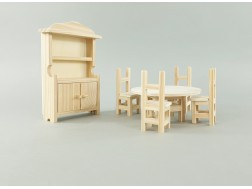 Miniature wooden furniture for dollhouse Ref.AR07571