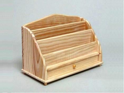 Escribania de pino con cajón Ref.1502