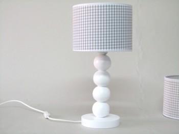 Lámpara sobremesa bolas pantalla vichy Ref. 3000