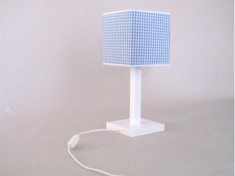 Lámpara sobremesa cuadrada pantalla vichy Ref. 3013