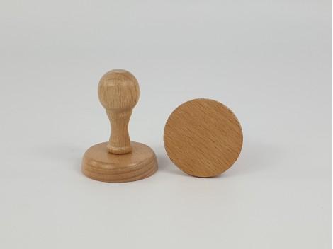 Base de madera para sellos redondo y rectangular Ref.PBC1
