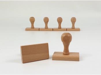 Empuñadura de madera para sellos Ref. BC1