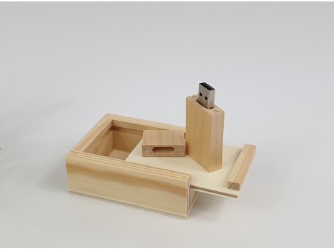 Pack PenDrive + Caja natural Ref.Pack1001CH2