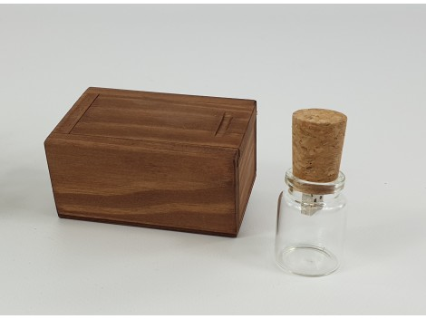 Pack PenDrive cristal + Caja envejecida Ref.PackBCCH4