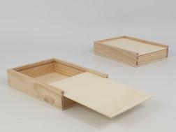 Caja de madera pino 20x15x3,5 cm. C/Tapa Corredera Ref.PC6P7A