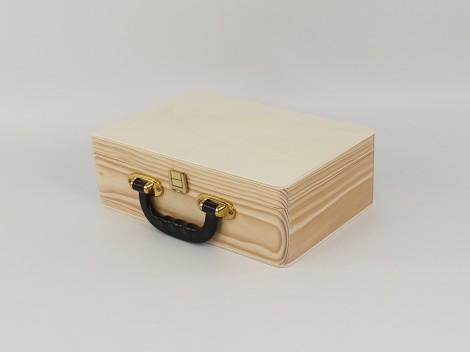 Caja maletín cabás con asa negra Ref.1525