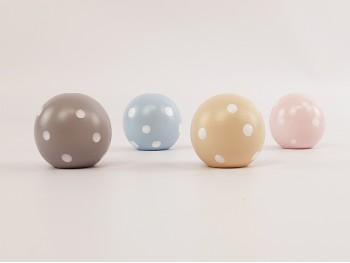 Tiradores infantiles Bola Color 40 mm. Lunares Blancos