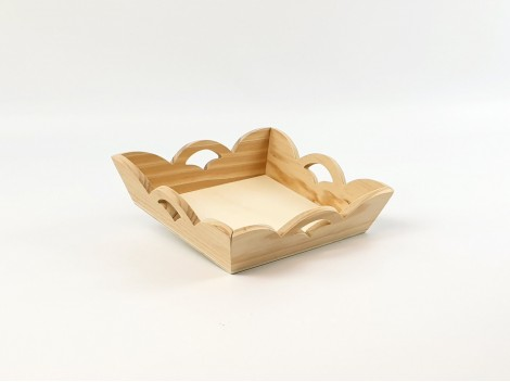 BanCorrugated wooden trays Ref.P1195