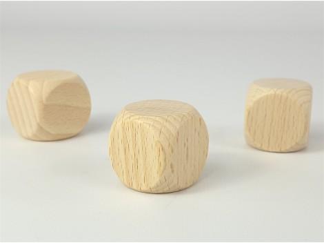 Wooden dice 3x3 cm. Ref.OP807587