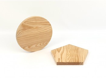 Circle and pentagon wooden boards Ref.P3742