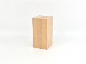 Taco madera de haya natural 20x10x10 cm. Ref.P7894