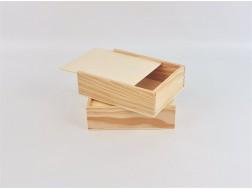Caja de madera pino 22x17x6 cm. c/Tapa Corredera Ref.PC6P71